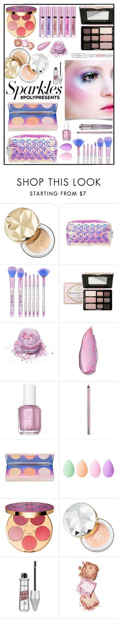 """#PolyPresents: Sparkly Beauty #256"" by emydeishly ❤ liked on Polyvore featuring beauty, Bare Escentuals, Charlotte Russe, FromNicLove, Stila, Essie, Urban Decay, beautyblender, tarte and Sephora Collection"