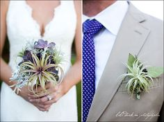 I'm not big on the purple, but the boutonniere I like.