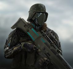 Futuristic sci-fi soldier dude by RobbieMcsweeney | Sci-Fi | 2D | CGSociety