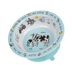 Ce bol sur le thème des animaux de la ferme est équipé d'une ventouse afin d'éviter que les repas de votre enfant ne finissent par terre. Pratique et amusant, il égaiera la table tout en permettant à bébé de manger comme un grand. Ce bol ventouse estfabriqué en mélamineet estlavable au lave-vaisselle. Sans BPA. Dimensions : 16,5 cm