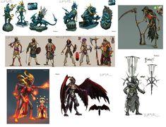 Fantasy Characters, Neil Richards on ArtStation at https://www.artstation.com/artwork/fantasy-characters