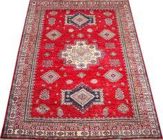 Red Kazak Carpet/Rug No. 4887  http://www.alrug.com/4887