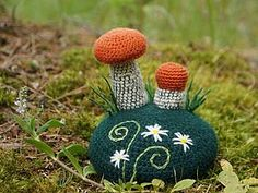 Вяжем крючком игольницу «По грибы». Часть 1 - Ярмарка Мастеров - ручная работа, handmade