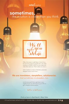 The new Solari 2014 Ad Campaign focuses on Making our Clients Shine.