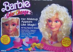Barbie Color Change Playset Her MakeUp Appears Like Magic 1989 Arco Toys Mattel >>> Click image for more details. Permed Hairstyles, Modern Hairstyles, Curly Hair Tips, Curly Hair Styles, Barbie Styling Head, Getting A Perm, Barbie Makeup, Biracial Hair, Air Dry Hair