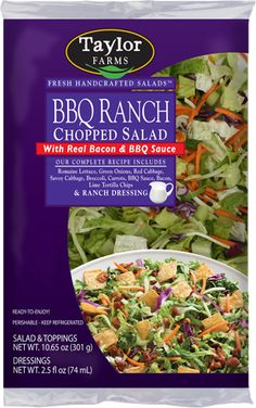 Love these! This is our favorite!  BBQ Ranch Chopped Salad