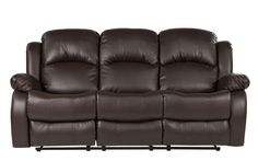 Bob Classic Bonded Leather Recliner Sofa
