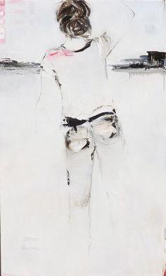 """Se propulser"", Oil on canvas by #artist Lucille Marcotte, at #Gallery Saint-Dizier"