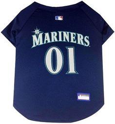 Seattle Mariners Baseball Dog Jersey Small