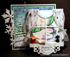 Claudia's Karteria: DT Cards und More Challenge - Baby, it's cold outside Its Cold Outside, Christmas Crafts, The Outsiders, Challenges, Frame, Winter, Cards, Baby, Home Decor