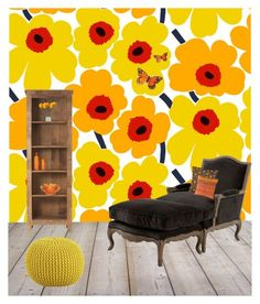 """""""Happy x"""" by xhazeyx on Polyvore featuring interior, interiors, interior design, home, home decor, interior decorating, Marimekko, Home Decorators Collection, Eichholtz and CB2"""