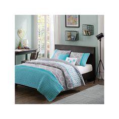 Intelligent Design Zara Reversible Quilt Set, Blue