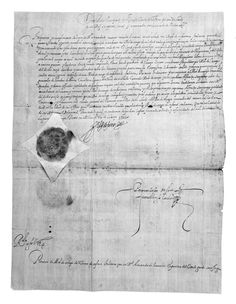 Orden levantar un tercio de infantería italiana para Flandes Año:  1605 Dimensiones:  45,5 x 33,5