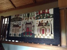 Changing of the quilt display happened at the farmhouse this week.  I finished this folk art appliqué quilt called No Place Like Home several years ago from a design book by BlackBird Designs.