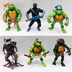 2016New toys 6Pcs Teenage Mutant Ninja Turtles TMNT Action Figures Toy Set Classic Collection Model for the boys