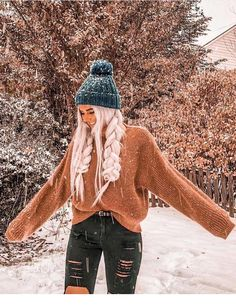 For when you want to look cute while it's snowing Cute Winter Outfits, Cute Casual Outfits, Fall Outfits, Fashion Outfits, Outfits For The Snow, Style Fashion, Fashion Trends, Looks Teen, Snow Outfit