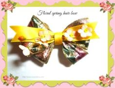 tutorial Floral spring hair bow - 15 This is a great way to dress up in style.  Make this as a wedding accessories