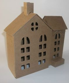 Putz Style Houses Large Vintage Style House by littlevillagehouses, $13.00
