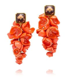 Gorgeous floral chandelier earrings from Tory Burch