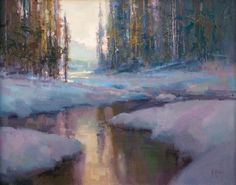 Quiet Winter by Richard McKinley Oil ~ 12 x 16