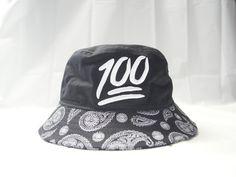 621 Keep It 1Hunnid Black Bandana Bucket Hat