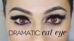 Sophia Loren Inspired Cat Eye Tutorial! http://karasglamourblog.blogspot.com/2013/10/sophia-lauren-inspired-cat-eye-tutorial.html