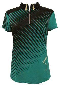 c8d8f5943 Jamie Sadock Ladies Cap Sleeve Golf Shirts - Emerald City