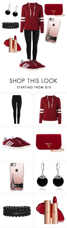 """Sporty Fashion Look"" by mamaniruth ❤ liked on Polyvore featuring adidas, Prada, Casetify and Bling Jewelry"