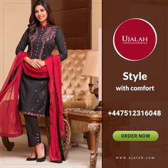 Ujalah team is serving you best with the amazing dresses. Give us a chance to serve you with best designer collection