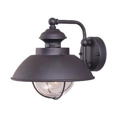 Cascadia Lighting Nautical 10.25-In H Textured Black Outdoor Wall Ligh