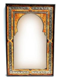 Moroccan camel bone mirror