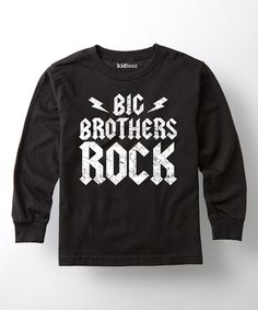 Look what I found on #zulily! Black 'Big Brothers Rock' Long-Sleeve Tee - Toddler & Boys by It's Just Me #zulilyfinds