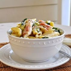 Penne with Zucchini, Pancetta and Ricotta