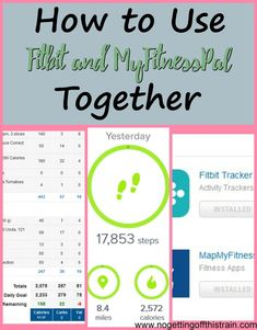 are you trying to hit your weight loss or health goals fitbit and myfitnesspal work