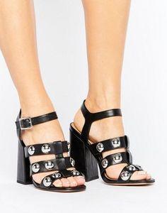 ASOS HEARTLESS Block Heeled Sandals
