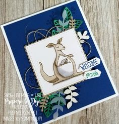 Stampin' Up! Animal Outing (coming soon), Love What You Do, Flourish Thinlits, Bouquet Bunch framelits, Stampin' Blends alcohol markers – … Kids Cards, Baby Cards, Stampin Up Catalog, Stampin Up Christmas, Card Tags, Card Kit, Safari, Animal Cards, Stamping Up