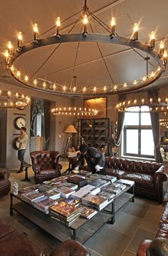RESTORATION HARDWARE chandelier - Get the junk store guy to make a ...