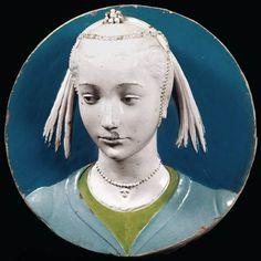 Luca della Robbia  Tondo Portrait of a Lady  1465, glazed terracotta, Museo Nazionale del Bargello, Florence