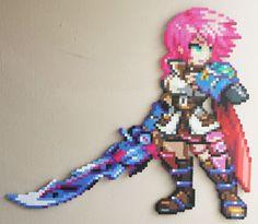Lightning FFXIII perler beads by IAmArkain