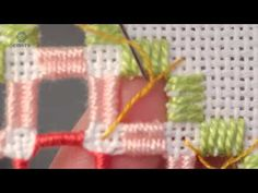 Embroidery Hardanger .Learn How To Make Diamond Eyelets - YouTube