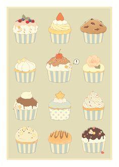 羊とカップケーキ