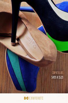 Zapatillas y colores Exuverati