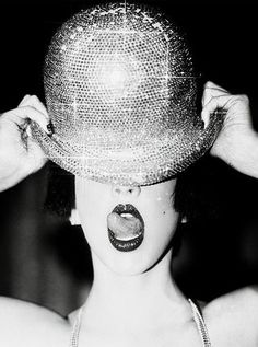 For Sale on - Disco Hat, by Ellen von Unwerth. Offered by Preiss Fine Arts Photographers Limited Editions. Ellen Von Unwerth, Cabaret, Pin Up, Red Lip Makeup, Annie Leibovitz, Philip Treacy, Bowler Hat, Eric Lafforgue, Makeup Tips For Beginners