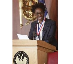 Newbery Honor author Jacqueline Woodson took up the mantle of the sixth National Ambassador for Young People's Literature on January 9 at the Library of Congress. January 9, Kids Lighting, Writing Resources, Library Of Congress, Mantle, Authors, Literature, Photos, Sims