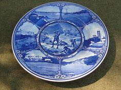 Blue Royal Doulton 10 1/2 Plate Bermuda D6342 by marketsquareus