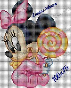 Minnie con lecca-lecca