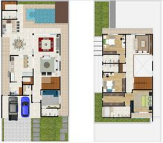 Casas The Sims Freeplay, Best House Plans, Good House, My Dream Home, Floor Plans, How To Plan, Projects, House 2, 2nd Floor