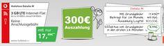 3GB LTE - Vodafone DataGO M mit bis zu 300€ Auszahlung http://www.simdealz.de/datentarif/vodafone-datago-m-mit-auszahlung/