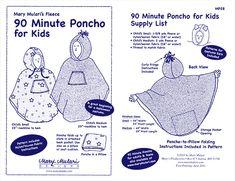 Mary Mulari's 90 Minute Poncho for Kids