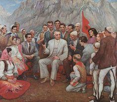 """Résultat de recherche d'images pour """"enver hoxha painting"""""""